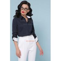 """Модная женская блузка в горошек с длинным рукавом """"Клэр"""""""
