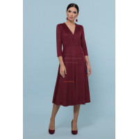 Замшевое модное платье на пуговицах