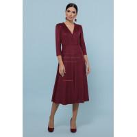 Замшеве модне плаття на гудзиках