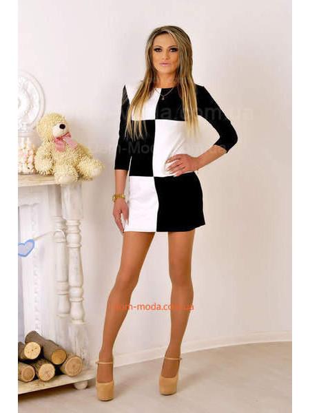 Модне коротке плаття з довгим рукавом