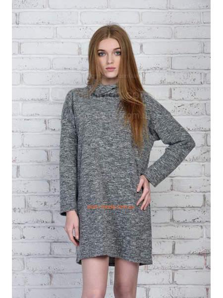 Коротке плаття сірого кольору