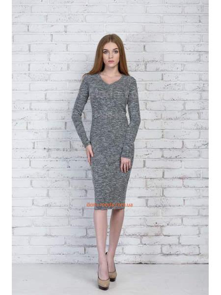 Сіре жіноче плаття міді