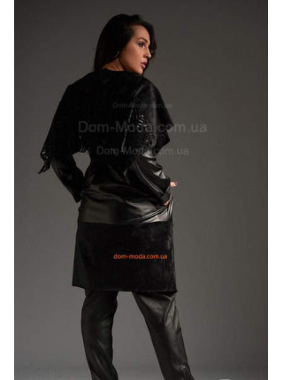 Стильное пальто на запах большого размера
