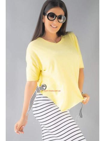 Модный костюм летний футболка и юбка