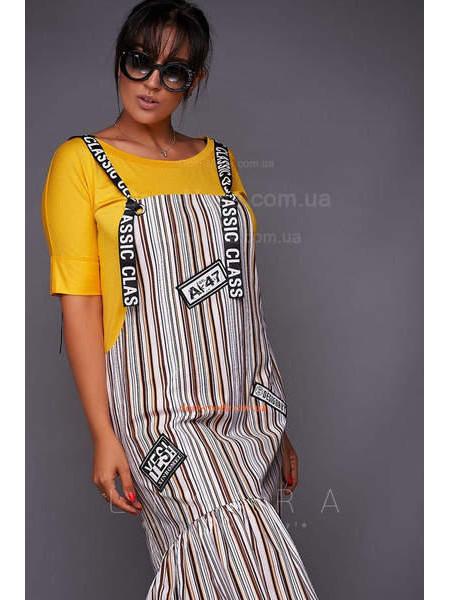 Женский сарафан с футболкой для полных