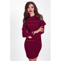 Ділове жіноче плаття на запах з розрізом спереду купити за 550 грн ... ba00c93430b0d