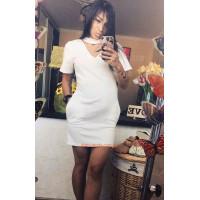Коротке жіноче плаття з чокером