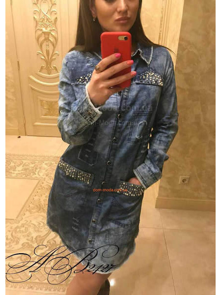 Удлиненная джинсовая рубашка для женщин