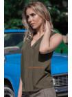 Жіноча блузка без рукав для повних жінок
