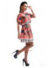 Женское летнее платье с рукавом и поясом в комплекте
