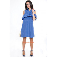 Стильне жіноче літнє плаття із прорізами вільного крою