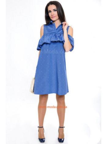 Стильное женское летнее платье с прорезами свободного кроя