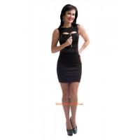 Женское сексуальное короткое платье с декольте