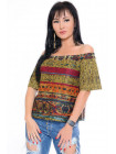 Модная повседневная женская блуза с открытыми плечами