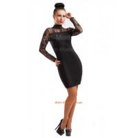 Коротка вечірня сукня із мереживною спиною
