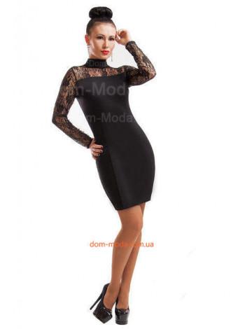 Короткое вечернее платье с кружевной спиной
