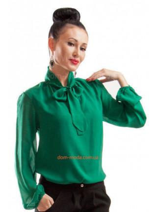 Легкая стильная блуза с длинным рукавом