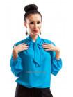 Легка стильна блуза із довгим рукавом