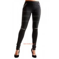 Жіночі модні лосіни із замками на колінах