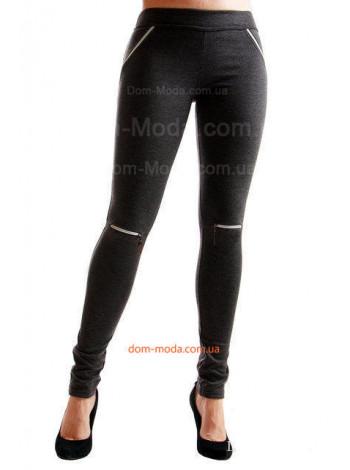 Женские модные лосины с замками на коленях