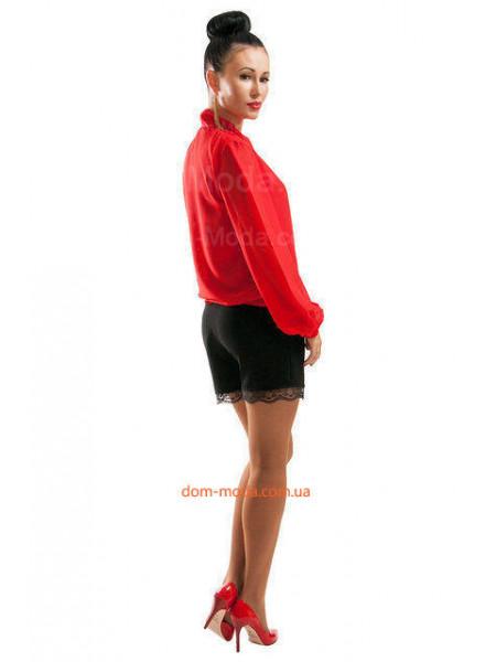 Короткие стильные шорты с кружевом