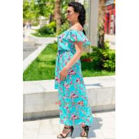 Жіночий літній сарафан із воланами в принт великого розміру
