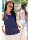 Женская стильная летняя шифоновая майка блуза