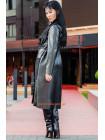 Жіноче модне пальто з еко шкіри. Норма і батал