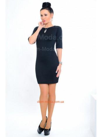 Коротке модне плаття з золотистим замком на спині