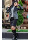 Коротка стильна куртка з еко шкіри