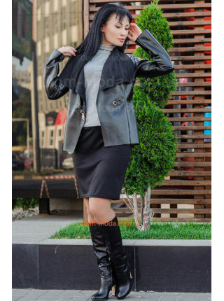 Короткая стильная куртка из эко кожи