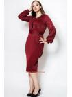 Женское модное платье c рукавом батального размера