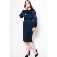 Жіноче модне плаття з рукавом батального розміру