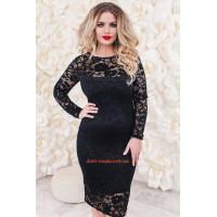 Вечернее гипюровое платье нарядное большого размера
