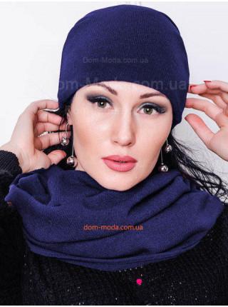 Трикотажная женская шапка из ангоры