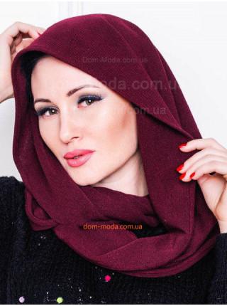 Женский однотонный шарф хомут