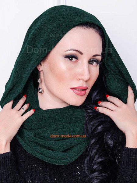 Жіночий однотонний шарф хомут