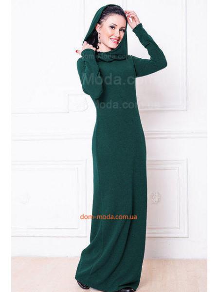 Стильное макси платье с хомутом