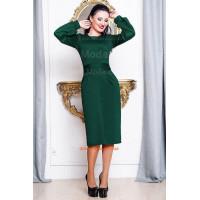 Женское однотонное шикарное платье классическое