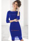 Жіноче вечірнє плаття прикрашене мереживом