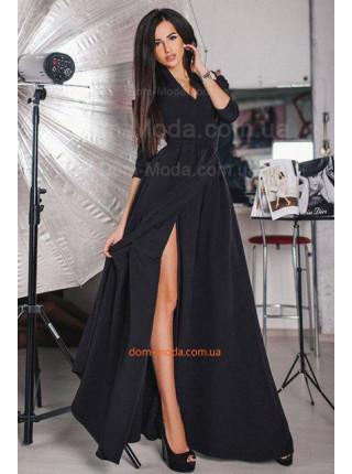 Вечернее макси платье с вырезом. Батал и норма