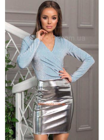 Кожаная женская мини юбка