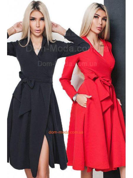Женское нарядное платье на запах. Норма и батал