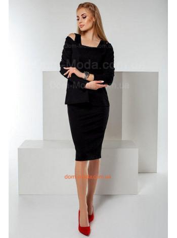 Стильний жіночий комплект плаття із кофтою