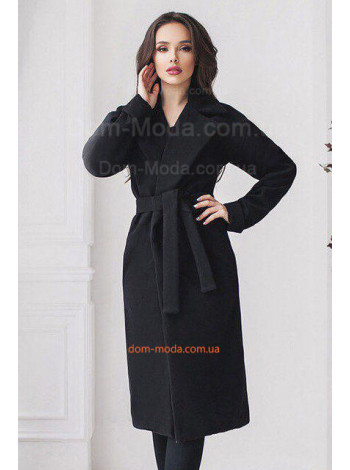 Классическое кашемировое пальто с поясом. Норма и батал