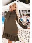 Короткое женское платье с оборкой. Норма и батал