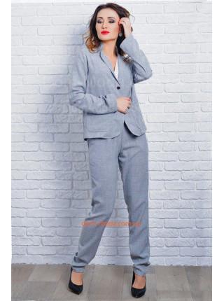 Льняной брючный костюм с пиджаком. Норма и батал