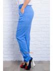Однотонные женские брюки из льна. Норма и батал