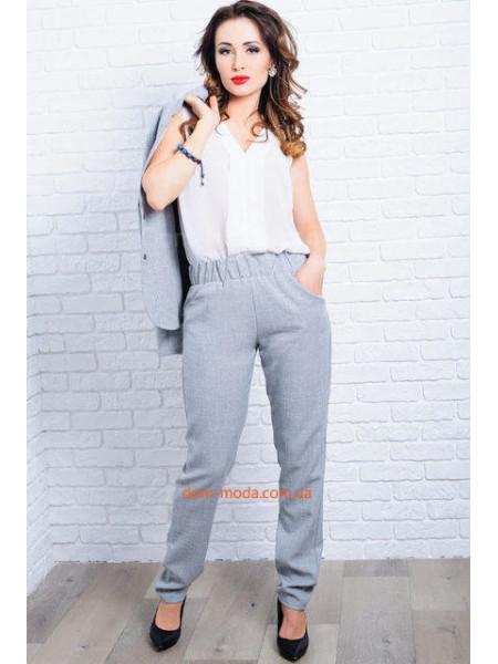 Однотонні жіночі штани із льону. Норма і батал