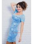 Женское летнее вечернее платье гипюровое. Норма и батал